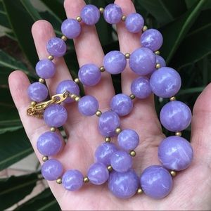 Joan Rivers faux amethyst graduated bead necklace
